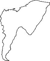 長野県諏訪郡富士見町(ふじみまち)の白地図無料ダウンロード
