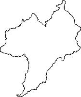 長野県下伊那郡阿南町(あなんちょう)の白地図無料ダウンロード