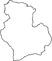 長野県下伊那郡根羽村(ねばむら)の白地図無料ダウンロード
