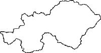 長野県木曽郡上松町(あげまつまち)の白地図無料ダウンロード