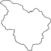 長野県木曽郡南木曽町(なぎそまち)の白地図無料ダウンロード