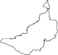 長野県上水内郡飯綱町(いいづなまち)の白地図無料ダウンロード