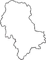 岐阜県揖斐郡揖斐川町(いびがわちょう)の白地図無料ダウンロード