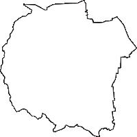岐阜県揖斐郡池田町(いけだちょう)の白地図無料ダウンロード