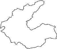 岐阜県加茂郡白川町(しらかわちょう)の白地図無料ダウンロード