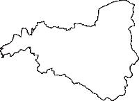 岐阜県可児郡御嵩町(みたけちょう)の白地図無料ダウンロード