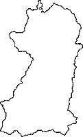 岐阜県大野郡白川村(しらかわむら)の白地図無料ダウンロード
