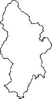 静岡県榛原郡川根本町(かわねほんちょう)の白地図無料ダウンロード