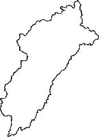 静岡県周智郡森町(もりまち)の白地図無料ダウンロード