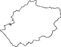 愛知県日進市(にっしんし)の白地図無料ダウンロード