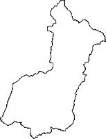 愛知県みよし市(みよしし)の白地図無料ダウンロード