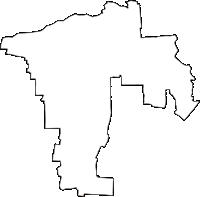 愛知県あま市(あまし)の白地図無料ダウンロード