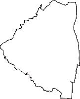 愛知県知多郡東浦町(ひがしうらちょう)の白地図無料ダウンロード