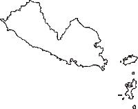 愛知県知多郡南知多町(みなみちたちょう)の白地図無料ダウンロード