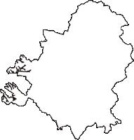 愛知県額田郡幸田町(こうたちょう)の白地図無料ダウンロード