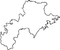三重県熊野市(くまのし)の白地図無料ダウンロード