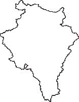 三重県伊賀市(いがし)の白地図無料ダウンロード