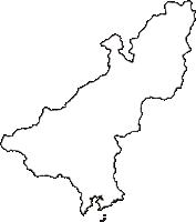 三重県度会郡大紀町(たいきちょう)の白地図無料ダウンロード