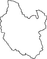 滋賀県湖南市(こなんし)の白地図無料ダウンロード
