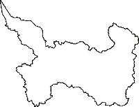 滋賀県東近江市(ひがしおうみし)の白地図無料ダウンロード