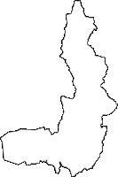 滋賀県米原市(まいばらし)の白地図無料ダウンロード