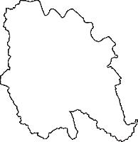 滋賀県蒲生郡竜王町(りゅうおうちょう)の白地図無料ダウンロード