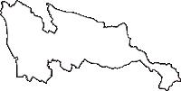 滋賀県愛知郡愛荘町(あいしょうちょう)の白地図無料ダウンロード