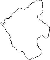 滋賀県犬上郡多賀町(たがちょう)の白地図無料ダウンロード