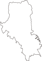 京都府京都市北区(きたく)の白地図無料ダウンロード