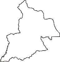 京都府京都市西京区(にしきょうく)の白地図無料ダウンロード