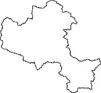 京都府福知山市(ふくちやまし)の白地図無料ダウンロード