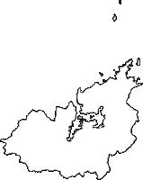 京都府舞鶴市(まいづるし)の白地図無料ダウンロード