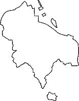 京都府八幡市(やわたし)の白地図無料ダウンロード