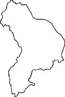 京都府京田辺市(きょうたなべし)の白地図無料ダウンロード