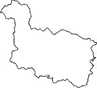大阪府豊能郡能勢町(のせちょう)の白地図無料ダウンロード