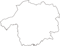 兵庫県神戸市西区(にしく)の白地図無料ダウンロード