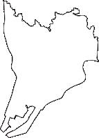 兵庫県尼崎市(あまがさきし)の白地図無料ダウンロード