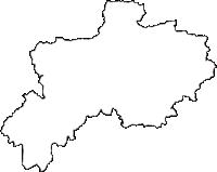 兵庫県篠山市(ささやまし)の白地図無料ダウンロード