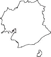 兵庫県南あわじ市(みなみあわじし)の白地図無料ダウンロード