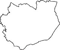 兵庫県加古郡稲美町(いなみちょう)の白地図無料ダウンロード