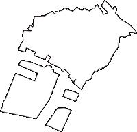 兵庫県加古郡播磨町(はりまちょう)の白地図無料ダウンロード