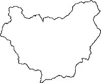 兵庫県神崎郡市川町(いちかわちょう)の白地図無料ダウンロード