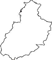 奈良県宇陀市(うだし)の白地図無料ダウンロード