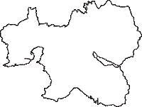 奈良県山辺郡山添村(やまぞえむら)の白地図無料ダウンロード