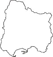 奈良県生駒郡平群町(へぐりちょう)の白地図無料ダウンロード