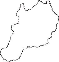 奈良県宇陀郡曽爾村(そにむら)の白地図無料ダウンロード