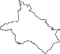 奈良県高市郡明日香村(あすかむら)の白地図無料ダウンロード