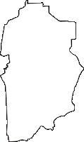 奈良県北葛城郡上牧町(かんまきちょう)の白地図無料ダウンロード