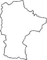 奈良県吉野郡下市町(しもいちちょう)の白地図無料ダウンロード