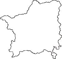 奈良県吉野郡十津川村(とつかわむら)の白地図無料ダウンロード